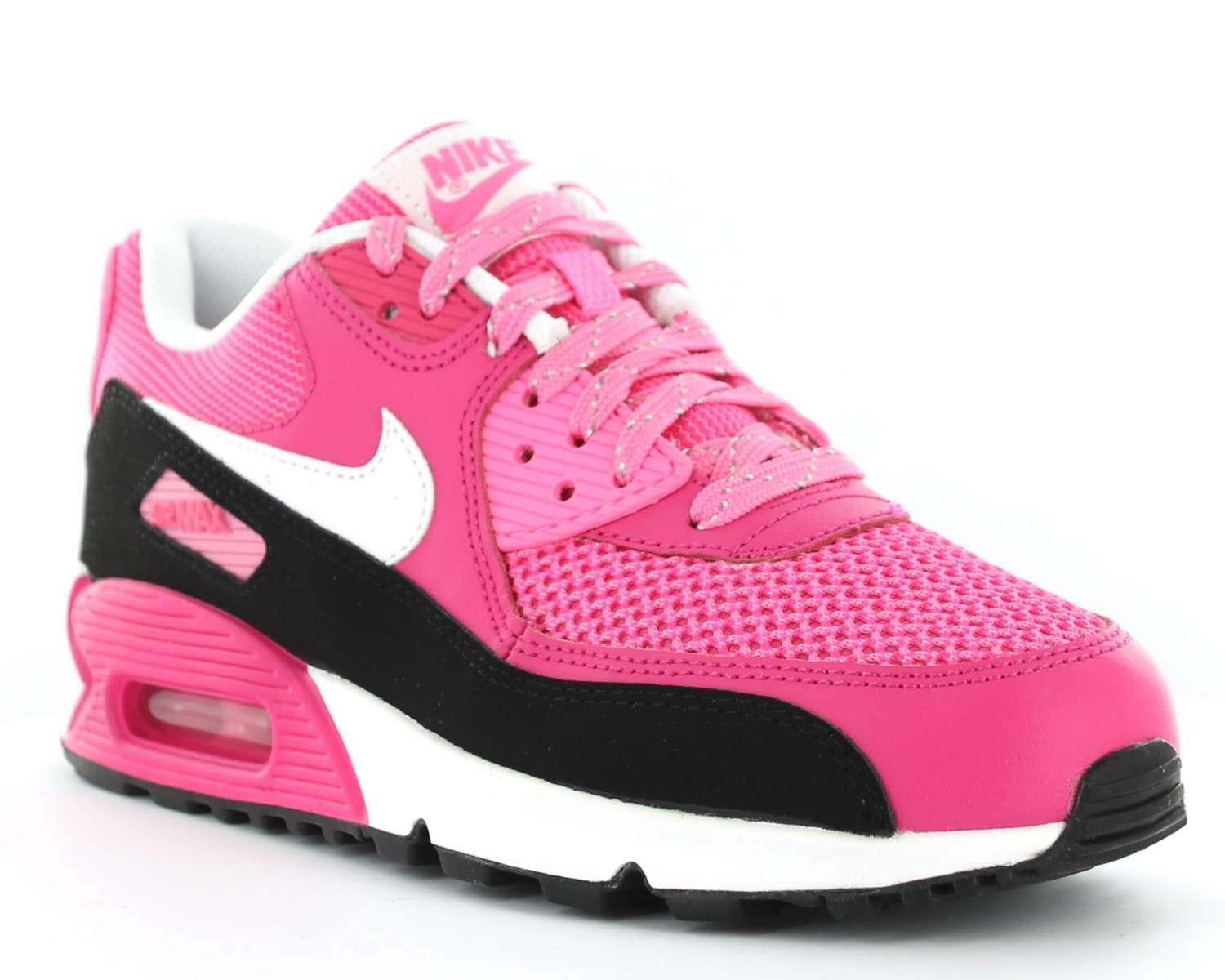 sports shoes 1e01f 58e95 Nike Air Max 90 LE gs ROSE BLANC NOIR ...